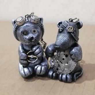 Парные брелоки (брелки) Кот и Крыс Подарок влюбленным на 14 февраля день св. Валентина