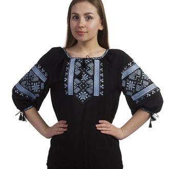 Блуза жіноча Білослава (штапель чорний)
