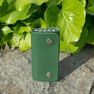 Кожаная ключница small (green)