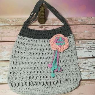 Эко сумка Для Любимой с цветком, сумка авоська, повседневная сумка для покупок