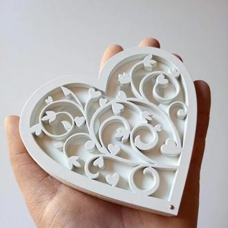 Шкатулка для обручальных колец сердце ( ассортимент)