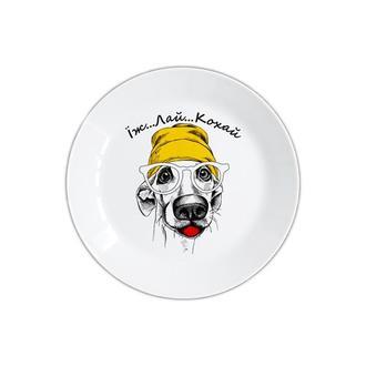 Тарелка с собакой — «Їж Лай Кохай»
