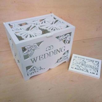 Свадебный набор казна и шкатулочка для колец ( ассортимент)