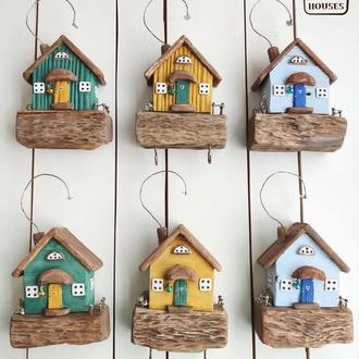 Настенные домики-ключницы, 3 шт.