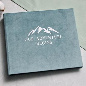 Мятний велюровий альбом, Сімейний альбом, Подарок другу, Годовщина свадьбы, Мятная свадьба