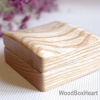 Деревянная шкатулка футляр для запонок, колец, сережек