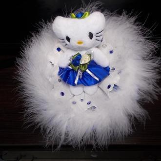 """Kitty Snowy"" Букет. Мягкая игрушка.Китти."