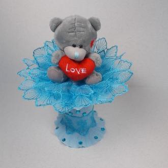 """Букет из мягкой игрушки """"Teddy lace"""""""