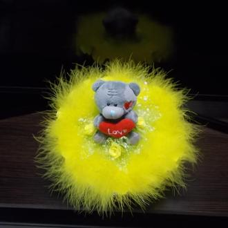 """Букет из мягкой игрушки """"Тедди солнечный"""""""
