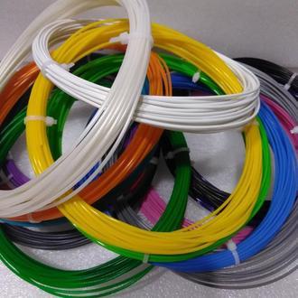 Набор PLA пластика для 3D ручки. 15 цветов по 10 метров .1,75 мм