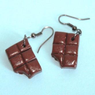 """серьги """"Шоколадки"""""""