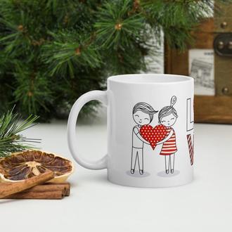 Кружка в подарок ко Дню влюбленных (LOVE пара), Чашка с рисунком