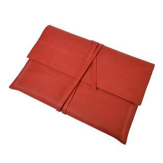 Кожаный чехол для MacBook. 03013/красный