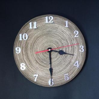 Бумажные настенные золотые часы с серебряными арабскими цифрами