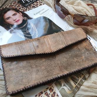 Женское портмоне из  натуральной  кожи игуаны (ящерицы)