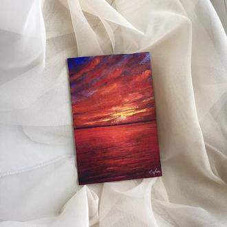 Миниатюрная интерьерная картина 10х15см