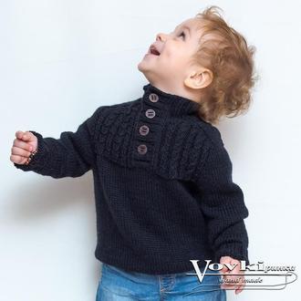 Свитер детский вязаный на 1.5-2 года, джемпер детский унисекс