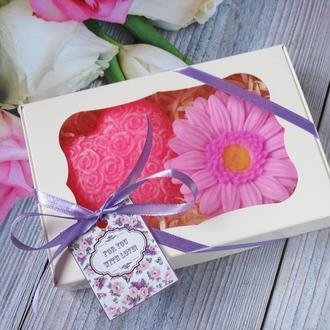 """Подарочный оригинальный набор сувенирного мыла """"Цветочная любовь"""""""