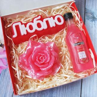 """Оригинальный подарочный набор сувенирного мыла """"Люблю"""""""