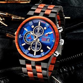 Наручные деревянные часы с гравировкой Infinite