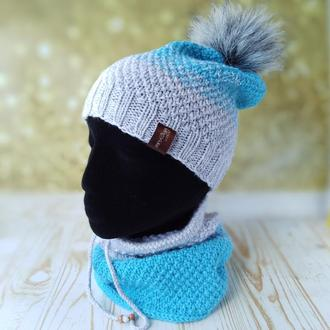 Комплект: шапка и снуд-труба