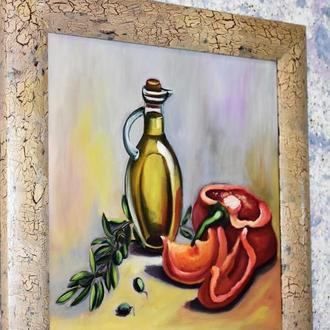 Живопись Кухонный натюрморт, размер 30х30