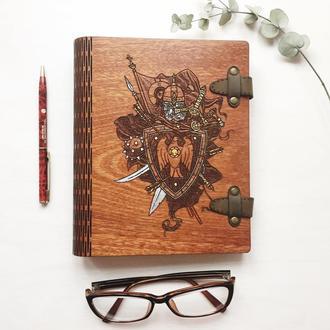 Оригинальный мужской блокнот из дерева(шпонированный материал)