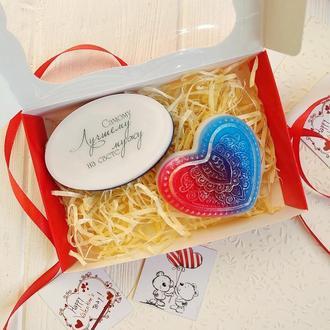 Набор мыла мужу. Подарок на день Святого Валентина.