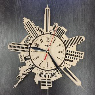 Часы настенные «Силуэты Нью-Йорка»