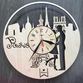 Интерьерные деревянные часы «Париж»