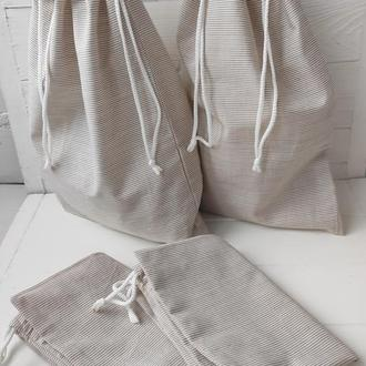 Эко мешочки из хлопка, эко пакет, эко мешочки для хранения, продуктов
