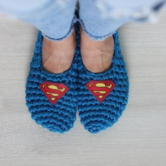 """Тапочки для дома """"Супермен"""""""