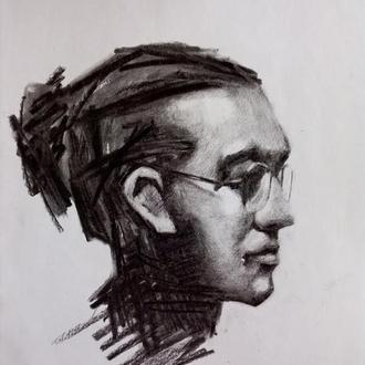 Угольный портрет