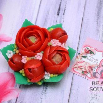 Мыло Пионы, цветы, на 8 марта  , букет Пионов