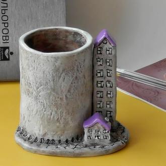Карандашница  Домики Сувенір під олівці