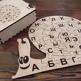 Пазл-алфавит из дерева