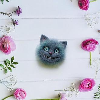 "Брошь ""Чеширский кот"""