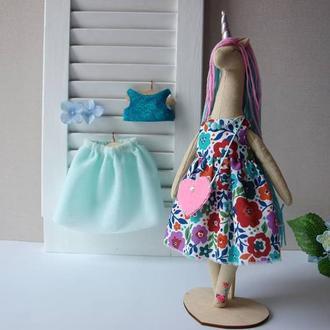 Кукла единорог с одеждой