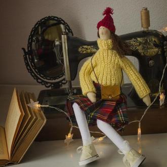 Интерьерная кукла тильда В ожидании праздника