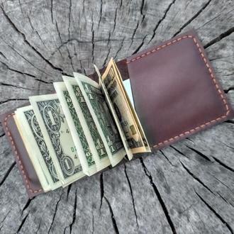 Зажим для денег из кожи