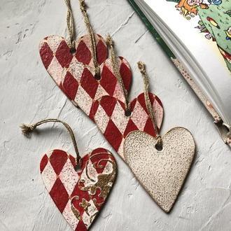Набор сердечки в винтажном стиле