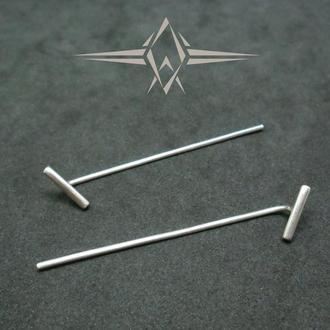 Срібні сережки протяжки