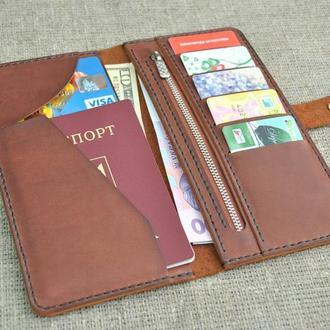 Коричневый портмоне из натуральной кожи K28-210