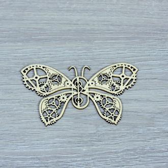 Декоративная деревянная фигурка бабочка из фанеры (форма №2) (2249)