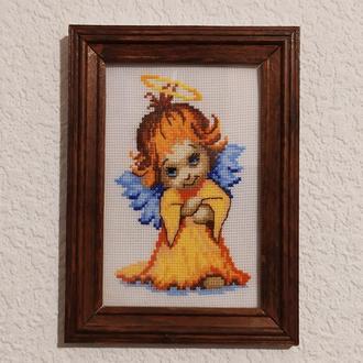 """Картина вышитая крестом """"Ангелочек"""""""
