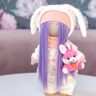 Кукла в кигуруми Зайка