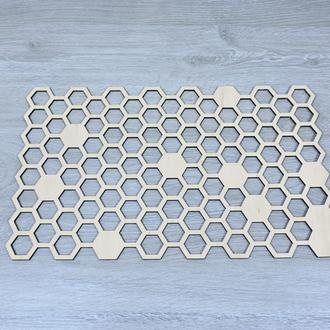 Декоративные панно из фанеры в виде сот (2260)