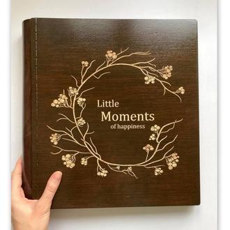 Фотоальбом! Деревянный фотоальбом с индивидуальной гравировкой!