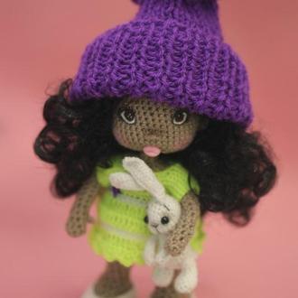 Кукла Ния с зайчиком