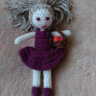 Вязаная кукла Яся